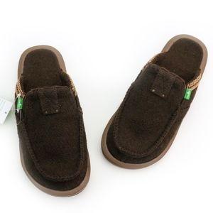 Sanuk You Got My Back Chill Brown Slides Slippers